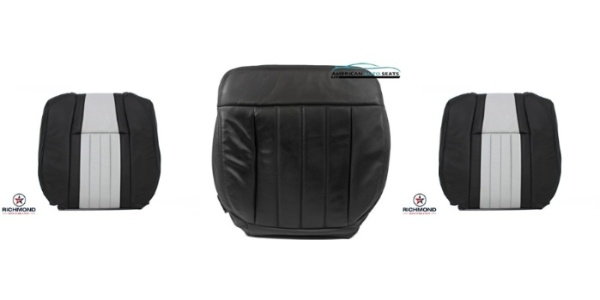 2006 2007 Ford F250 Harley Davidson Passenger Lean Back Leather Seat Cover BLACK