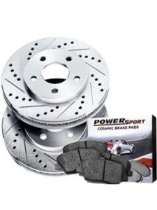 Brake Rotors POWERSPORT DRILLED SLOTTED Dodge RAM 2500 FRONT